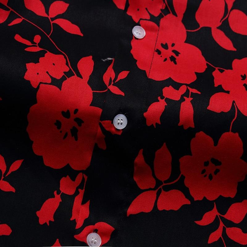 Vêtements 10xl Chemises Floral Marque Imprimé Rétro À Longues Classique Chemise Casual Respirant Hommes 6xl Homme Manches Beige Mode 8xl De Robe BFxrBqH
