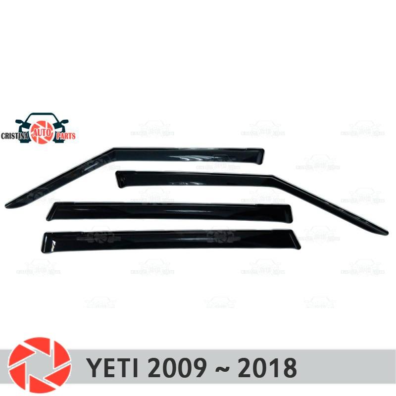 Window deflector for Skoda Yeti 2009~2018 rain deflector dirt protection car styling decoration accessories molding