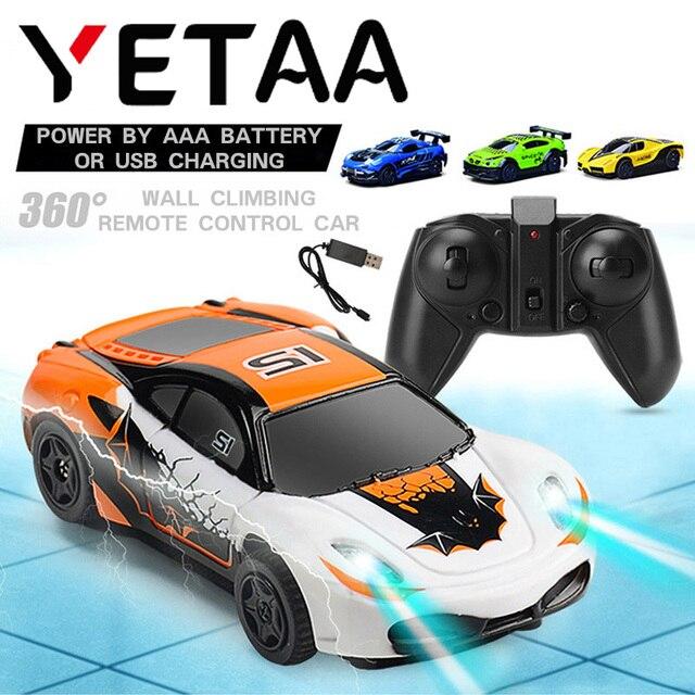 YETAA Radio Control Mini Gravity Parede de Escalada do Carro de Controle Remoto RC Racing Car Home Veículo Dublê de Brinquedo Elétrico Para As Crianças carro