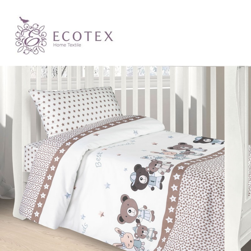Фото - Baby bedding Friends,100% Cotton. Beautiful, Bedding Set from Russia, excellent quality. Produced by the company Ecotex flower print bedding set