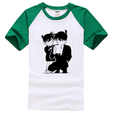 Case Closed Detective Conan and Shinichi Print T-Shirt