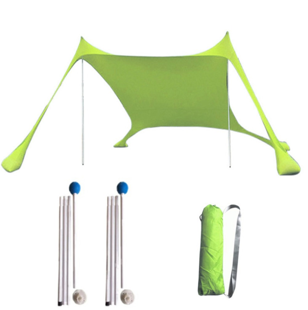 Portable Pergola Windproof Beach Sunshade and Gazebo Tent - 210 X 210 - with Sand Anchors. Perfect Canopy Sun Shade Shelter tent