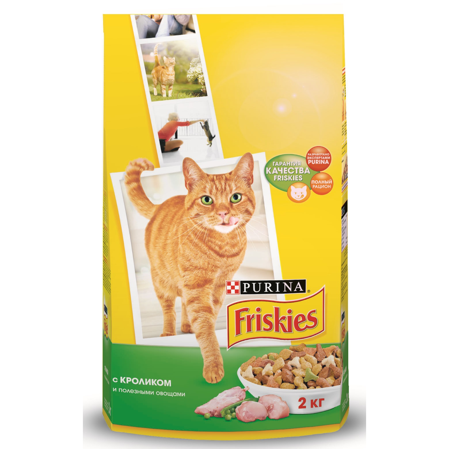 все цены на A set of dry food Friskies for adult cats with a rabbit and healthy vegetables, Package, 2 kg x 6 pcs. онлайн