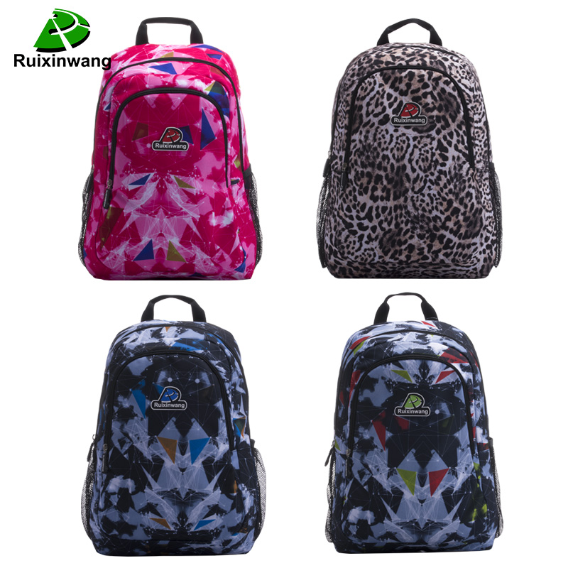 Ruixinwang Females bags Student College Nylon Backpack leopard stripes Men Women High Quality Brand Laptop Bag School Backpacks new gravity falls backpack casual backpacks teenagers school bag men women s student school bags travel shoulder bag laptop bags