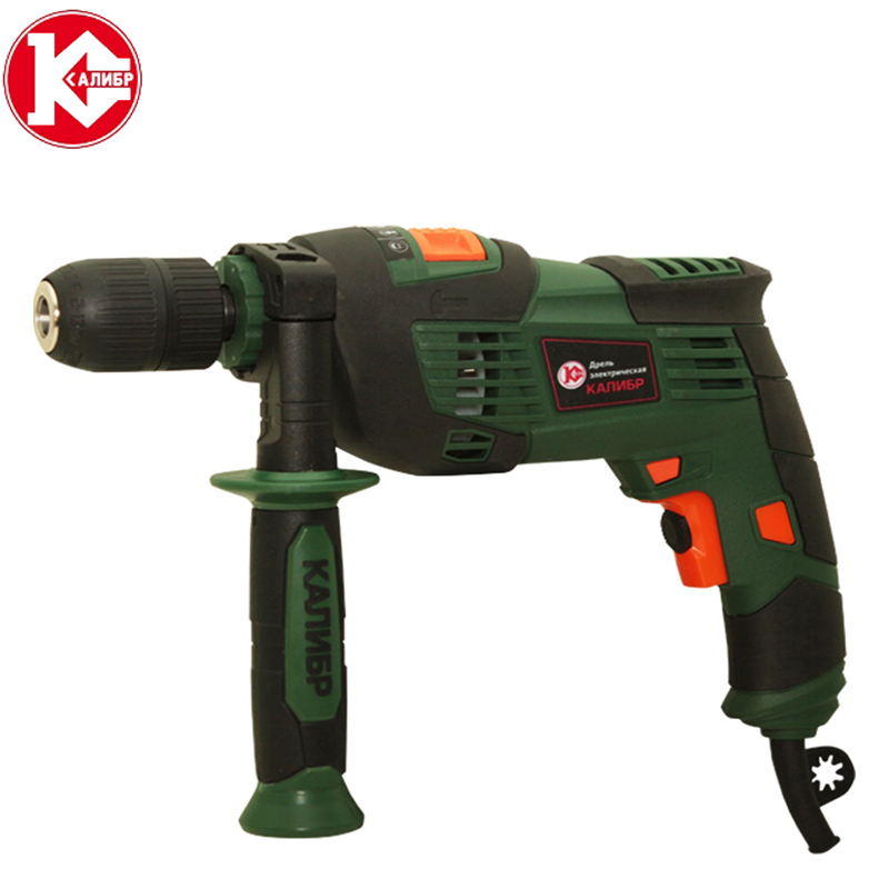 Kalibr DE-810ERU+ Drill Household Impact Drill 220V Multi-function Power Tool Pistol Drill Hand Drill Electric Light Light wipson sf xc1 pistol mini light gun led tactical weapon light airsoft military hunting flashlight for glock free shipping