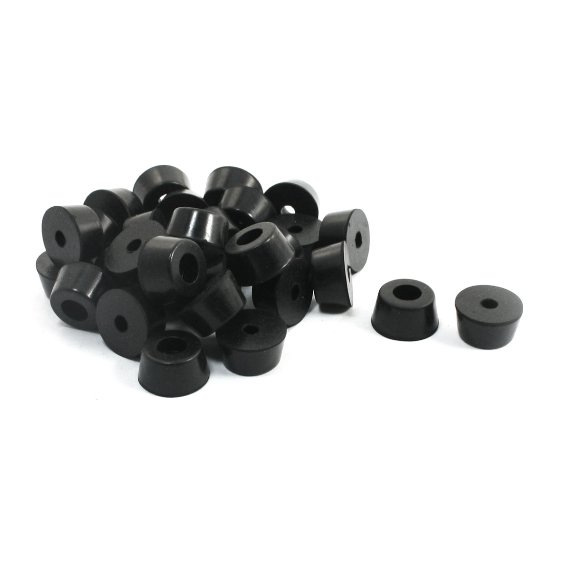 UXCELL Home Furniture Black Universal Tapered Rubber Feet Bumper Washer Brushing 13Mm X 7Mm 30 Pcs