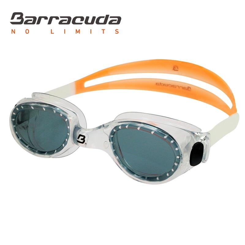 Barracuda Swimming Goggles FLITE One-piece Frame Anti-fog UV Protection Mudah penyesuaian Ringan untuk Dewasa Lelaki Wanita # 8420