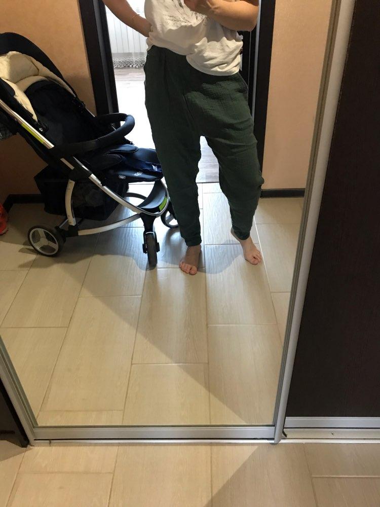 New Arrival Spring Summer Palazzo Pants 100% Bamboo Cotton  Sweatpants Elastic Waist Trousers Pencil Pantalon photo review