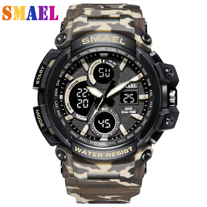 Amicable 2019 Smael Top Luxury Brand G Style Mens Military Sports Watch Led Digital Watch Waterproof 50m Mens Watch Relogio Masculino A Wide Selection Of Colours And Designs Watches Men's Watches