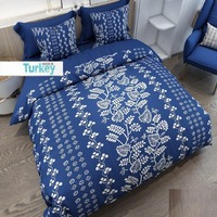 Innego 6 sztuka niebieski biały w stylu Vintage etniczne kwiaty 3D wzór druku bawełna satynowa podwójna poszewka na kołdrę zestaw poszewka na poduszkę łóżko arkusz w Kołdra od Dom i ogród na