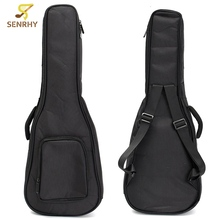 21″24″ Black Soft Oxford Cloth Small Guitarra Case Ukulele Instruments Bag with Double Shoulder Strap Guitar Parts Accessories