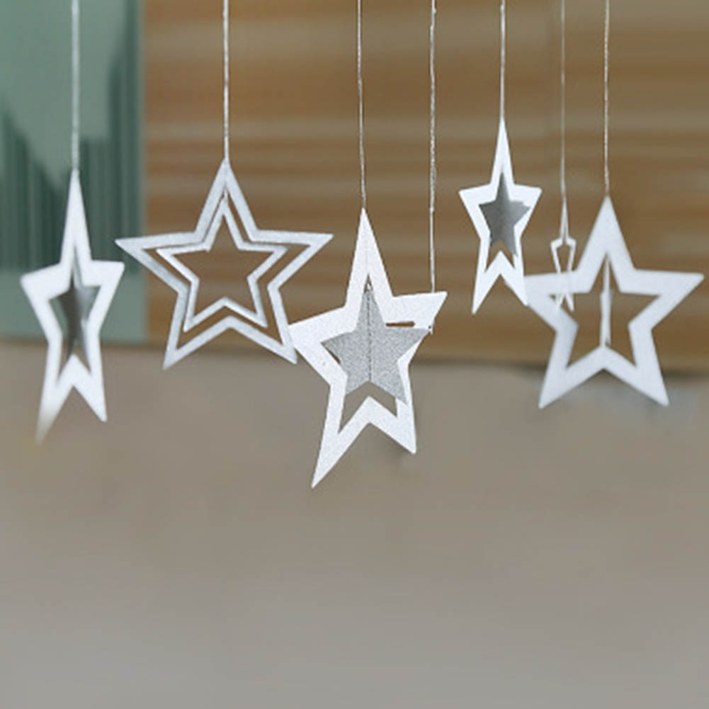 Hanging Christmas Decorations Ceiling: 2017 7 Pcs /set Christmas Decorations Hollow Star Hanging