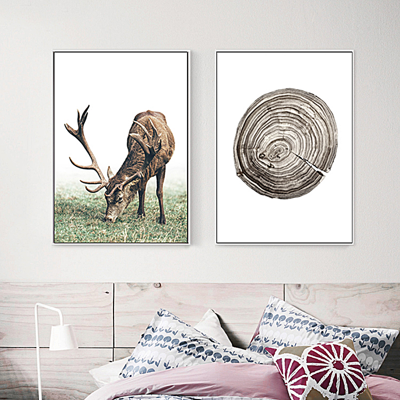SD LINLEEHON Cow Print and Poster Animal Wall Art Canvas Painting Pictures Farmhouse Kitchen Decor Unframed image