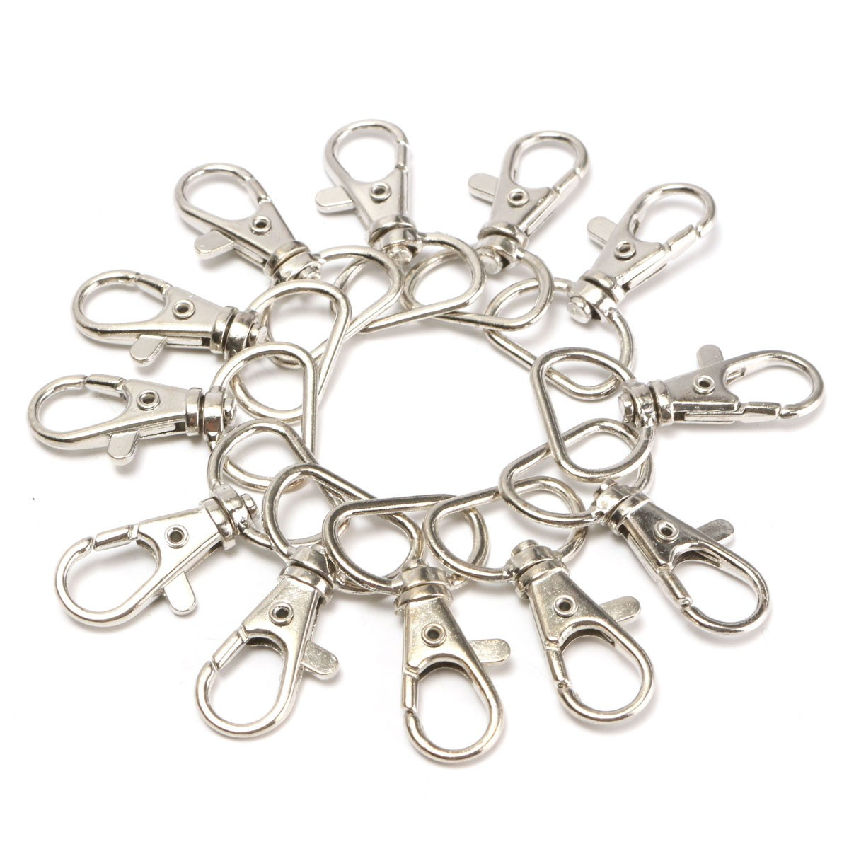 25pcs/packs Silver Metal Lanyard Swivel Snap Diy Handbag Hook Portable Lobster Clasp Clips Bag Accessories Wholesale Buckle Hook To Make One Feel At Ease And Energetic Luggage & Bags
