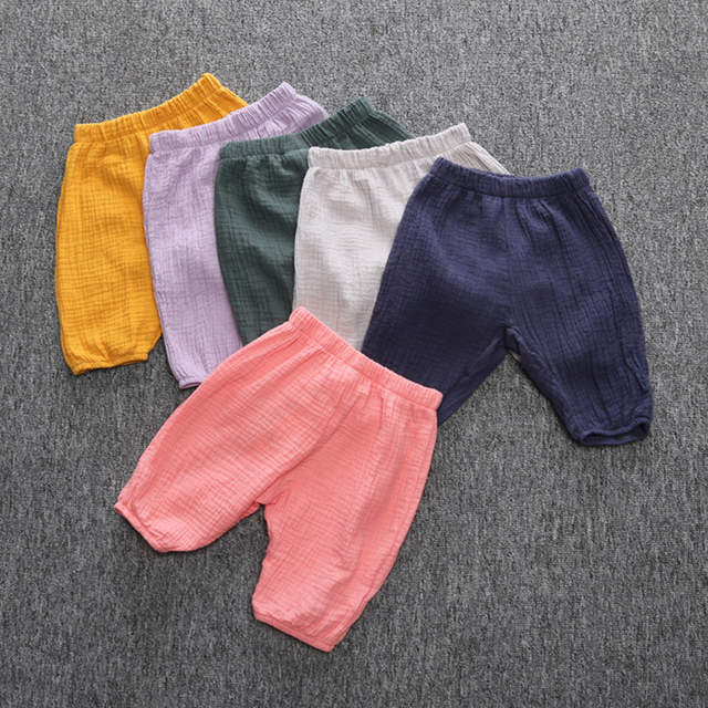 Breathable Baby Pants Set Summer Spring Cotton Pants Newborn Baby Boy Clothing Roupa Bebes Children Infants Baby Trousers Kids