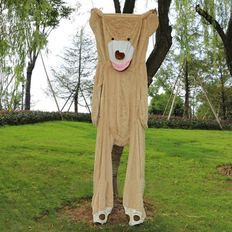 Super 340cm/3.4m giant unstuffed empty American teddy bear skins shell animals kid baby plush soft toys pillow girl Christmas стоимость