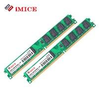 IMICE PC De Bureau Ram DDR2 4 GB (2 GB x 2 pcs) RAM 667 MHz PC2-6400S 240-Pin 1.8 V DIMM Pour Ordinateur Compatible Mémoire Garantie