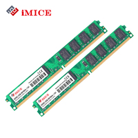 IMICE Desktop PC RAMs DDR2 4GB 2GBx2pcs RAM 667MHz PC2 6400S 240 Pin 1 8V DIMM