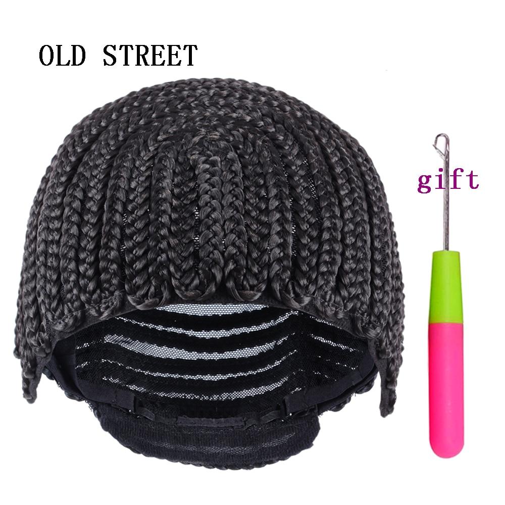 цена на Top Sale Adjustable Black Cornrows Crochet Braid Wig Caps For Sewing Weave and Crochet Braiding Wigs Elastic Hairnet Glueless