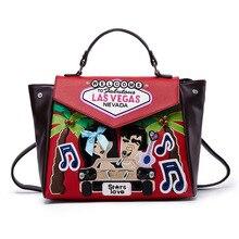 618 Multifunctional  Shoulder handbag Embroidery Embossing Designer New Korean college bag PU Fashion brand Messenger