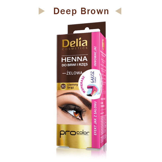 Aliexpress Com Buy 100 Delia Henna Eyebrow Enhancer Eyebrow Color