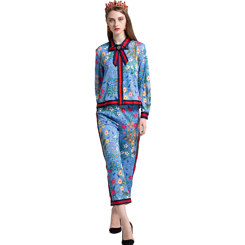 2018 Fashion Women Runway Plus Size 4XL 2 Pieces Pants Set ...