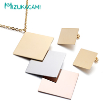 2017 Sale Luxurious And Generous Geometry Jewelry Set Necklaces Earrings Titanium Material For Women Elegant Design
