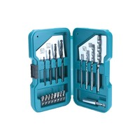 MAKITA D-40200-Case drill and tips with 17 Pieces