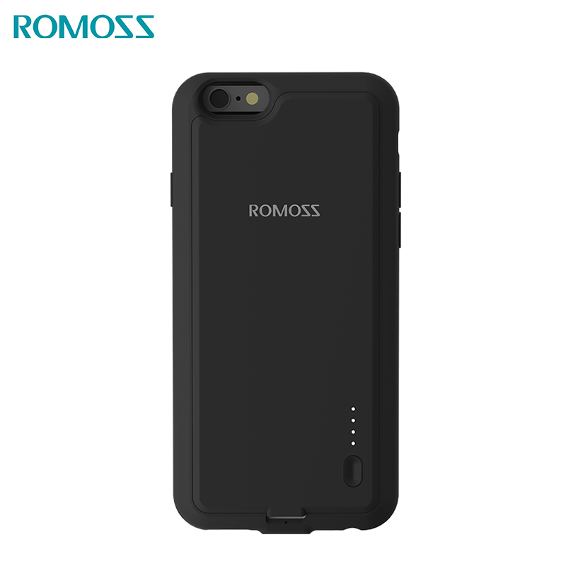 Battery charger case power bank Romoss EnCase 6S AA6S-401-01 solar power bank externa bateria portable charger for phone portable 5600mah power source bank w 1 led flashlight for iphone htc samsung more black