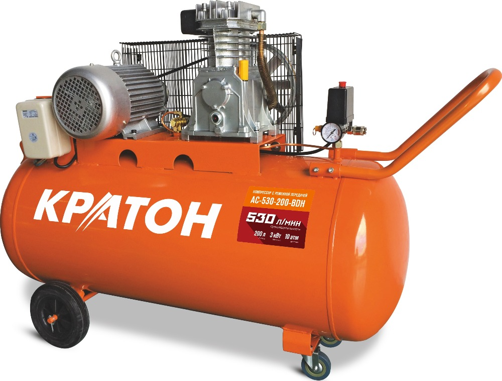 Compressor KRATON with belt transmission AC-530-200-BDH compressor kraton with direct transmission ac 180 24 dd