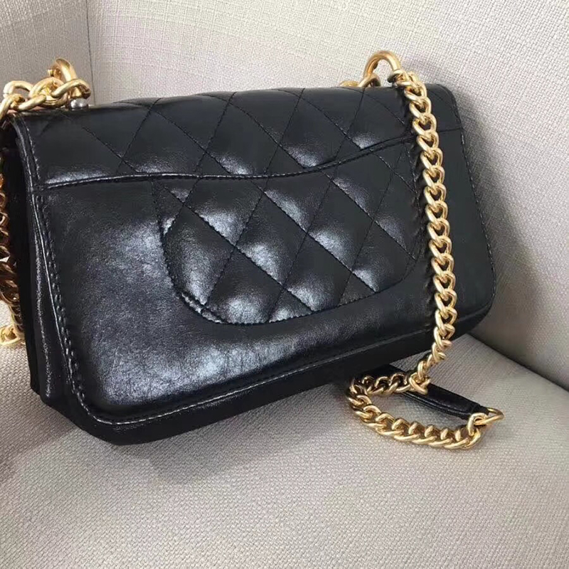 Women Messenger Bags Genuine Leather Chains Handbags Famous Brands High Quality Shoulder Bag Flap Luxury Designer Crossbody Bags famous brand designer 2018 ladies small messenger bags women serpentine leather shoulder bag high quality chains crossbody bags