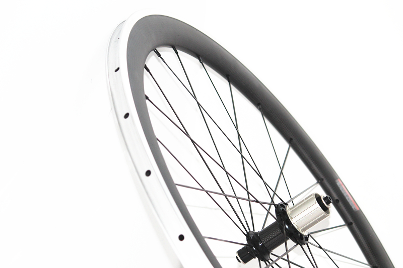 Carbon Aluminium Wheelset Road Bike 700C 38mm 50mm Clincher Alloy Wheels 60mm road bicycle wheel with aluminum brake surface 1pcs magnesium alloy single speed fixed gear bike wheels 700c road racing venues inch wheel bicycle accessories