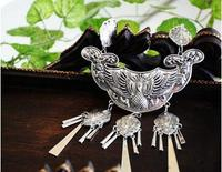Yunnan ethnic style retro necklace Necklace Wild Miao silver Free shipping