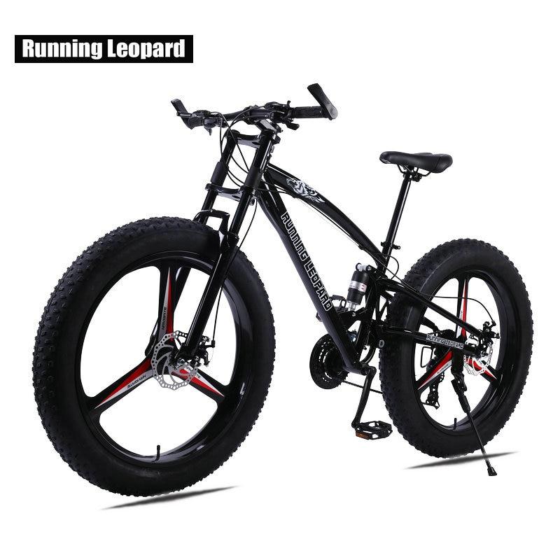 Running Leopard 7 21 24 Speed 26x4 0 Fat bike Mountain Bike Snow Bicycle Shock Suspension Innrech Market.com