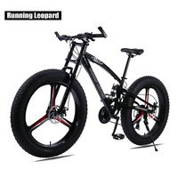 Running Leopard 7/21/24 Speed 26x4.0 Fat bike Mountain Bike Snow Bicycle Shock Suspension Fork Free delivery Russia bicycle