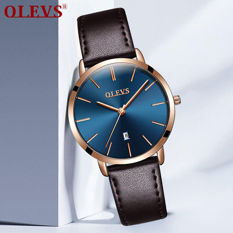 OLEVS Women Elegant Watch Famous Brand  Luxury Quartz Sports Female Watches Ladies Leather Calendar Automatically Wristwatches dom women watches women top famous brand luxury casual quartz watch female ladies watches women wristwatches t 576 1m