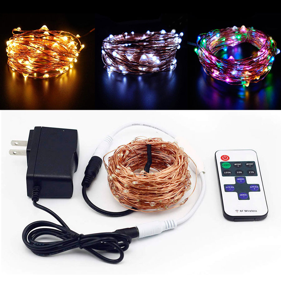 10M 20M 30M 50M Copper Wire LED String Light Waterproof Outdoor Indoor Fairy Lights Christmas New Year Wedding Decoration Lamps