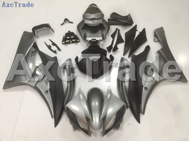 Motorcycle Fairings Kits For Yamaha YZF600 YZF 600 R6 YZF-R6 2006 2007 06 07 ABS Injection Fairing Bodywork Kit Gray Black B46 hot sales yzf600 r6 08 14 set for yamaha r6 fairing kit 2008 2014 red and white bodywork fairings injection molding