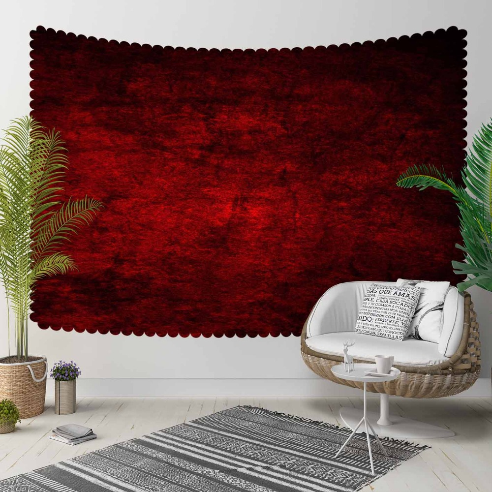 Else Red Black Retro Abstract Watercolor Aging Shine 3D Print Decorative Hippi Bohemian Wall Hanging Landscape Tapestry Wall Art