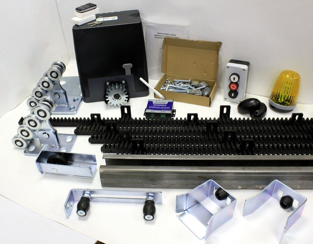 Drive kit DKC800 with mounting plate, GSM module, photocells, button, signal lamp, nylon rail and kit3 set of console equipmentDrive kit DKC800 with mounting plate, GSM module, photocells, button, signal lamp, nylon rail and kit3 set of console equipment