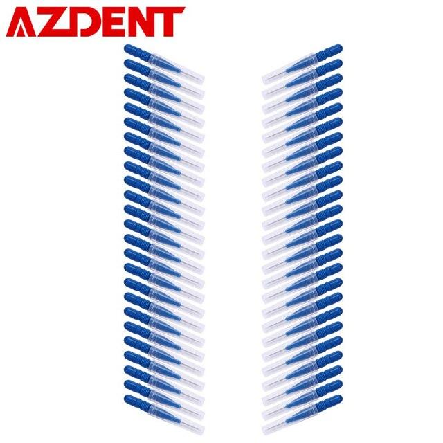 Hot 50pcs/Lot Interdental Brush Floss Sticks Dental Flosser Toothpick Soft Plastic Tooth Floss Head Teeth Cleaning Oral Healthy