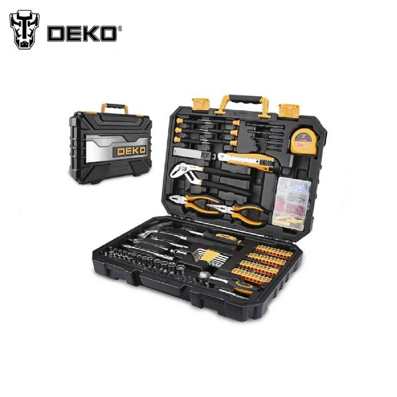 Tool Kit DEKO DKMT196 (196pcs.) Socket Wrench Tool Set Auto Repair Mixed Tool Combination Package Hand Plastic Toolbox magnified eyeglass repair kit