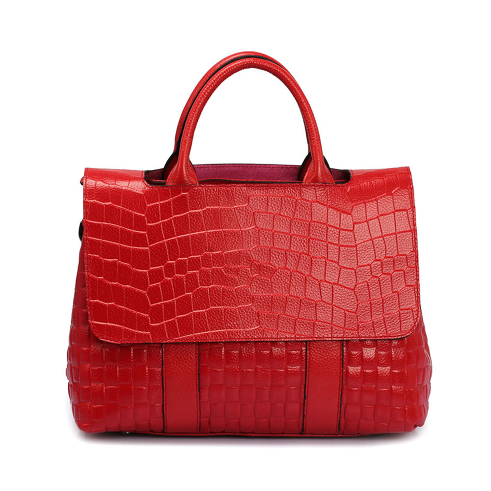 The New Crocodile pattern true Leather Women Handbag Two Pieces Female Shoulder Bag Girls Messenger bag Casual Women Bag free delivery genuine leather women bag 2016 new simple casual shoulder bag crocodile pattern messenger bag