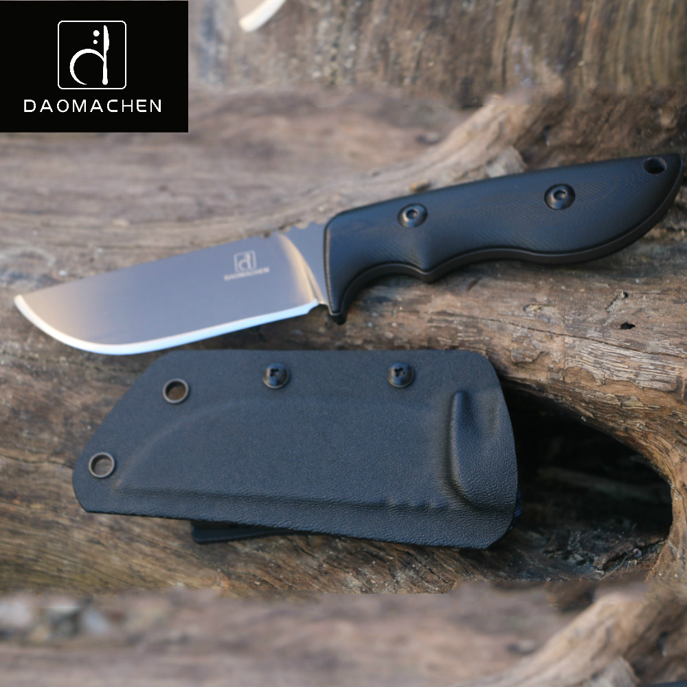 DAOMACHEN fixed blade camping survival Hunting Knife Full Tang With Imported K sheath G10 Handle Free shipping цены