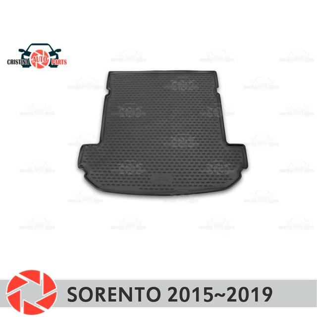 Коврик для багажника Kia Sorento 2015 ~ 2019, коврик для багажника, Нескользящие полиуретановые грязеотталкивающие накладки, для интерьера багажника, для стайлинга автомобиля