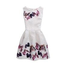 Girls Kid Child Sleeveless Round Neck Butterfly Pattern Dress New Fashion