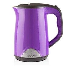 Чайник электрический Galaxy GL 0301 фиолетовый (Мощность 2000 Вт, объем 1.5 л, двойной термоизолированный корпус, индикатор работы, вращение 360°)