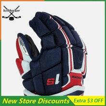 [В 2 упаковках] Темно-синяя/красная/белая перчатка для хоккея с шайбой анатомической формы, модель 1 серии Supreme, бесплатная доставка