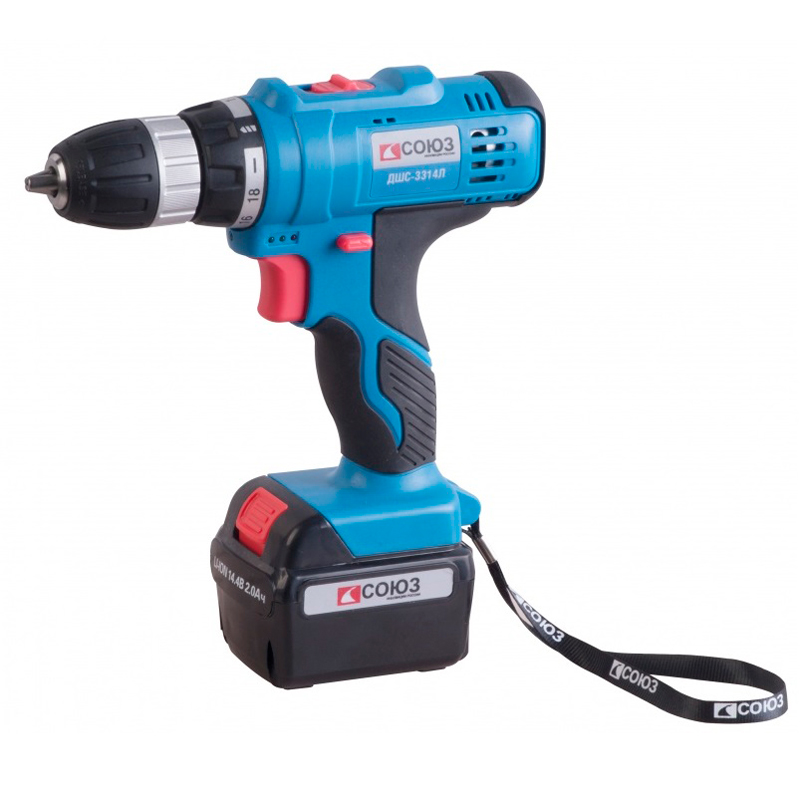 Cordless drill/screwdriver SOYUZ DSHS-3314L 12v cordless electric drill screwdriver power tools with lithium battery and two speed adjustment for handling screw punching