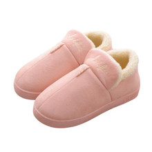 Winter Warm Women Home Slippers Indoor Cotton Shoes(China)